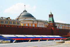 Plac Czerwony na wiośnie i święcie pracy Obrazy Stock