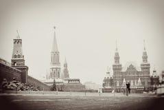 Plac Czerwony w Moskwa w zimie Zdjęcie Stock