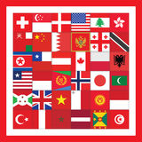 Plac Czerwony z flaga Zdjęcia Royalty Free