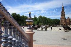 Plac De españa, Sevilla - Obrazy Stock