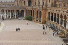 Plac De España, Seville, Hiszpania Obraz Royalty Free