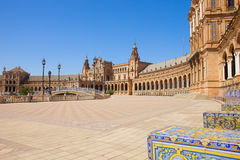 Plac De Espa? a, w Seville, Hiszpania obrazy stock