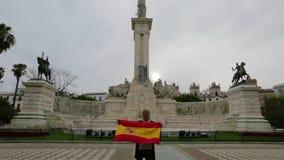 Plac De Espana Cadiz zbiory wideo