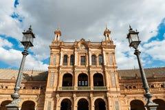 Plac De Espana w Seville, Andalusia Fotografia Stock