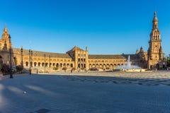 Plac De Espana w Seville, Hiszpania, Europa zdjęcie stock