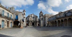 Plac De Los Angeles Catedral Hawański, Kuba Obrazy Royalty Free