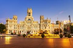 Plac De Los angeles Cibeles Madryt Zdjęcie Stock