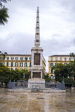 Plac De Los angeles Merced, Malaga, Hiszpania obraz royalty free