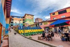 Plac De Los Zocalos w Guatape, Kolumbia obrazy royalty free