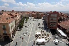 Plac De Santa Teresa w Avila, Hiszpania Obraz Stock