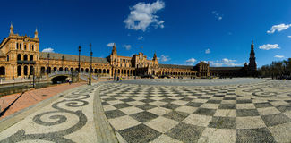 Plac Espana, Seville, Hiszpania Zdjęcie Royalty Free