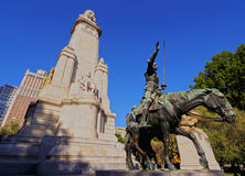 Plac Espana w Madryt Zdjęcie Royalty Free