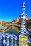 Plac Espana w Sevilla, Hiszpania zdjęcia royalty free