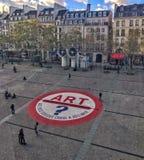 Plac przed Pompidou centrum, Paryż, Francja obraz stock