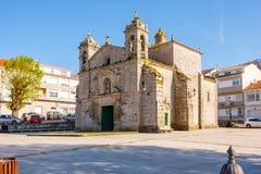 Plac Santa Liberata, Baiona Hiszpania Obraz Royalty Free