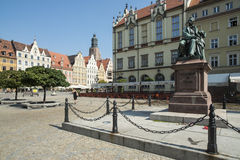 Plac solny wroclaw poland europe Royalty Free Stock Photo