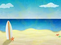 Placa à ressaca em um Sandy Beach ilustração stock