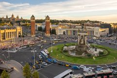 Placa δ ` Espanya στη Βαρκελώνη Στοκ Εικόνες