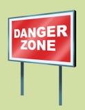 Placa 02 del peligro Foto de archivo libre de regalías