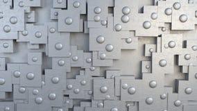 Placa abstracta con los remaches Fotos de archivo libres de regalías