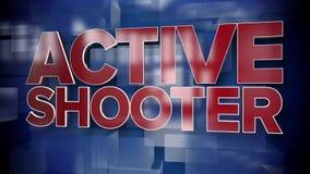 Placa activa dinámica del fondo de la página de título de la pistola metrajes
