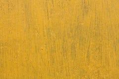Placa amarela rústica amarela Fotografia de Stock