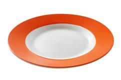 Placa anaranjada Fotografía de archivo libre de regalías