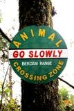 Placa animal do sinal do cruzamento Imagens de Stock