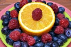 Placa antioxidante de la fruta de Superfood Fotos de archivo