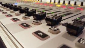Placa audio do misturador Imagem de Stock Royalty Free