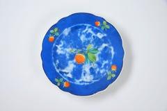 Placa azul Imagen de archivo libre de regalías