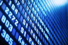 Placa azul do vôo Fotografia de Stock