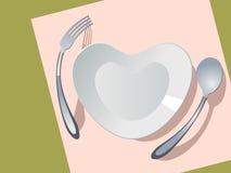 Placa bajo la forma de corazón stock de ilustración