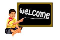 Placa bem-vinda Fotos de Stock