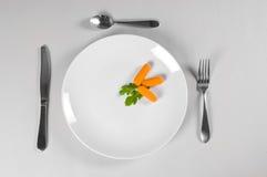 Placa blanca y dieta Fotografía de archivo libre de regalías