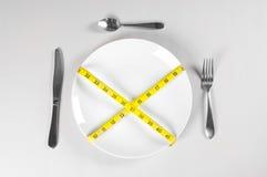 Placa blanca y dieta Imagen de archivo