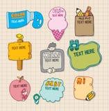 Placa bonito dos desenhos animados Imagens de Stock