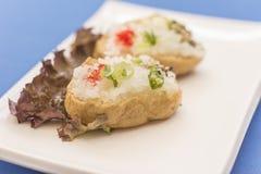 Placa branca com alimento japonês imagem de stock royalty free