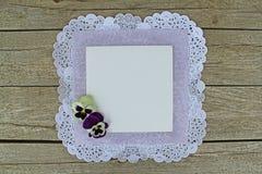Placa branca com amor perfeito Imagem de Stock
