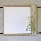 Placa branca com laço Fotografia de Stock