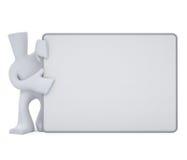 Placa branca da preensão do caráter Imagem de Stock