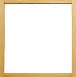 Placa branca de frame de madeira fotografia de stock royalty free