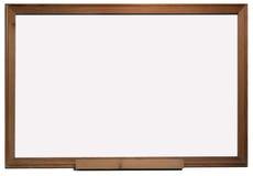 Placa branca de frame de madeira Foto de Stock Royalty Free