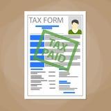 Placa branca do formulário de imposto ilustração do vetor