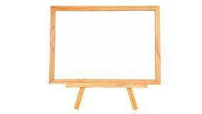 Placa branca natural de madeira de pinho no fundo branco isolado Imagens de Stock Royalty Free