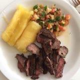 Placa Brasil do almoço fotografia de stock