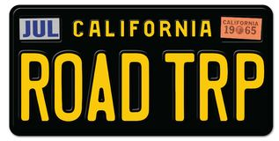 Placa California del viaje por carretera ilustración del vector