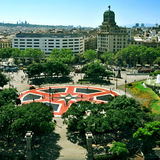 Placa Catalunya在巴塞罗那,西班牙 免版税库存照片