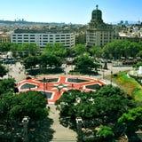 Placa Catalunya à Barcelone, Espagne Photos libres de droits