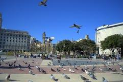 Placa Catalunya, πλατεία της Καταλωνίας, Βαρκελώνη Στοκ εικόνα με δικαίωμα ελεύθερης χρήσης